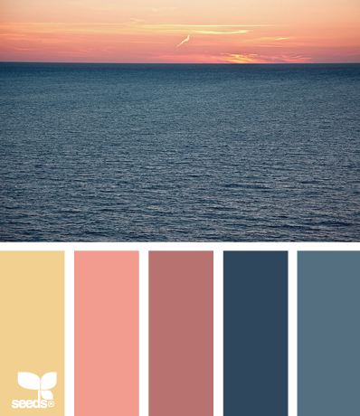 A perfect color palette for a #beach #wedding