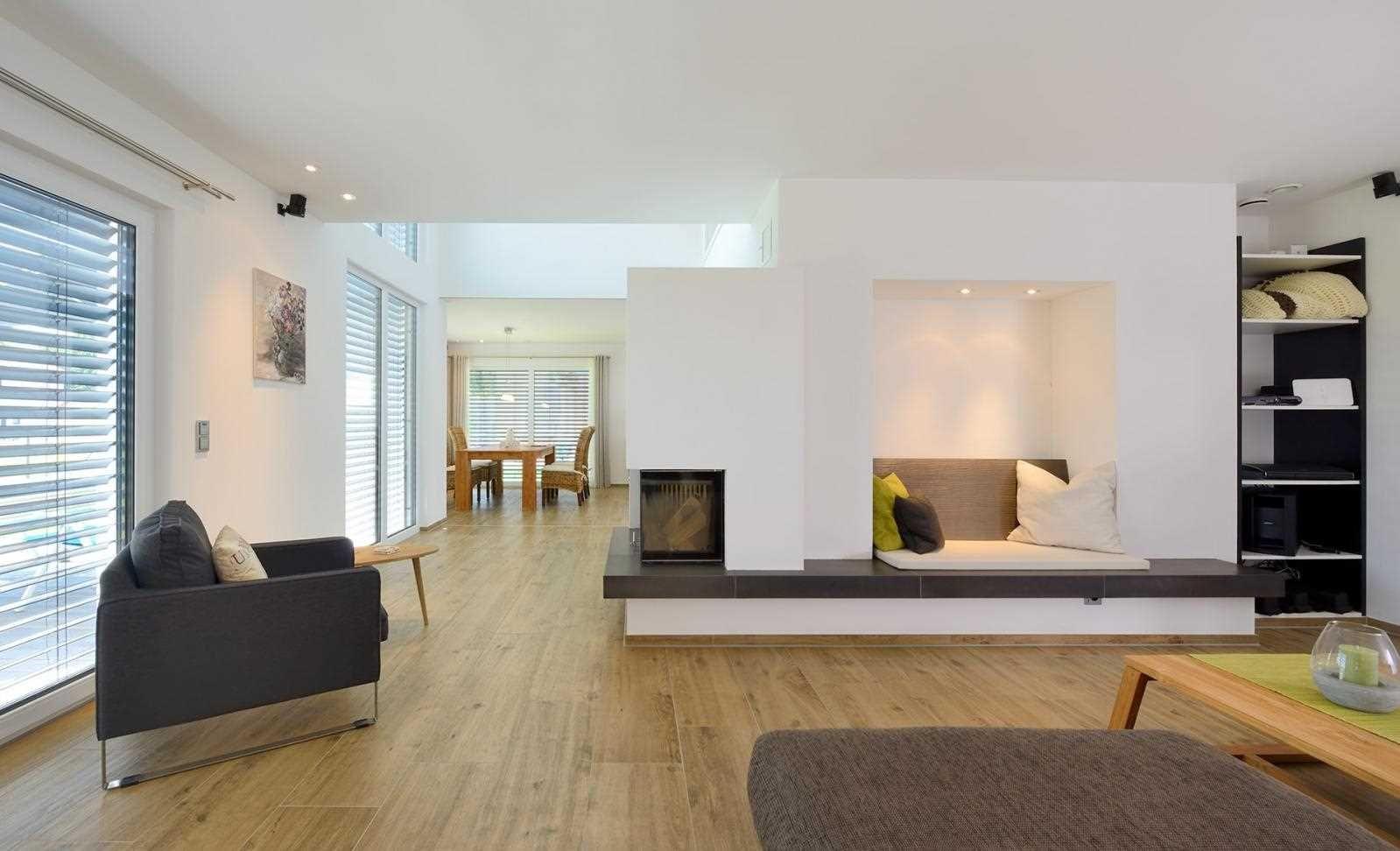 Modernes bungalow innenarchitektur wohnzimmer haus gaukler  hausbau  innen  pinterest  interiors living rooms