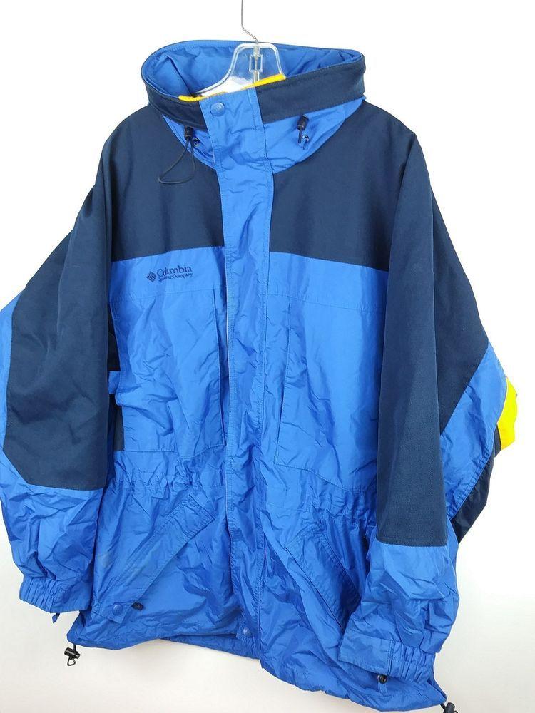 05acb3081 COLUMBIA SportsWear Men's Large Jacket Winter Ski Rain Coat RN# 69724 Flaws  JM1 #Columbia #skiraincoat