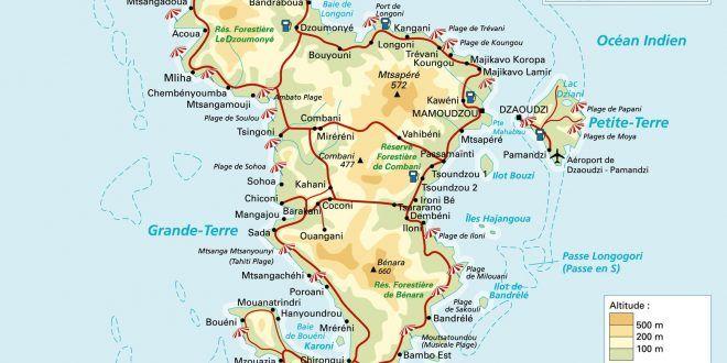 Carte De Mayotte Ocean East Africa Indian Ocean
