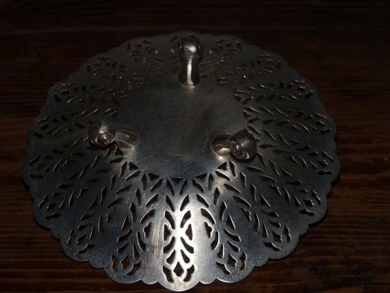 A Sterling Silver Filigree Serving Dish with Three by opalsandowls, $30.00