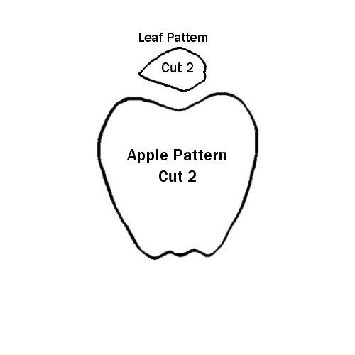 Paper Bag Apple Alphabet writing, School and Craft - leaf template for writing