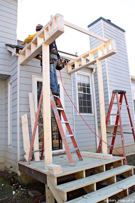 Building A Front Portico Repurpose Home Decor Porch