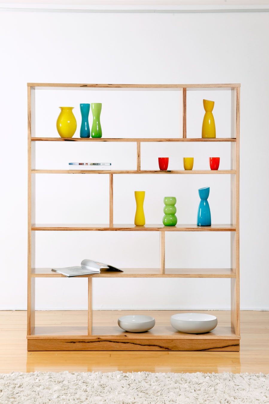 Custom Made Cubic Marri Timber Bookcase, Perth, WA | Feature pieces ...