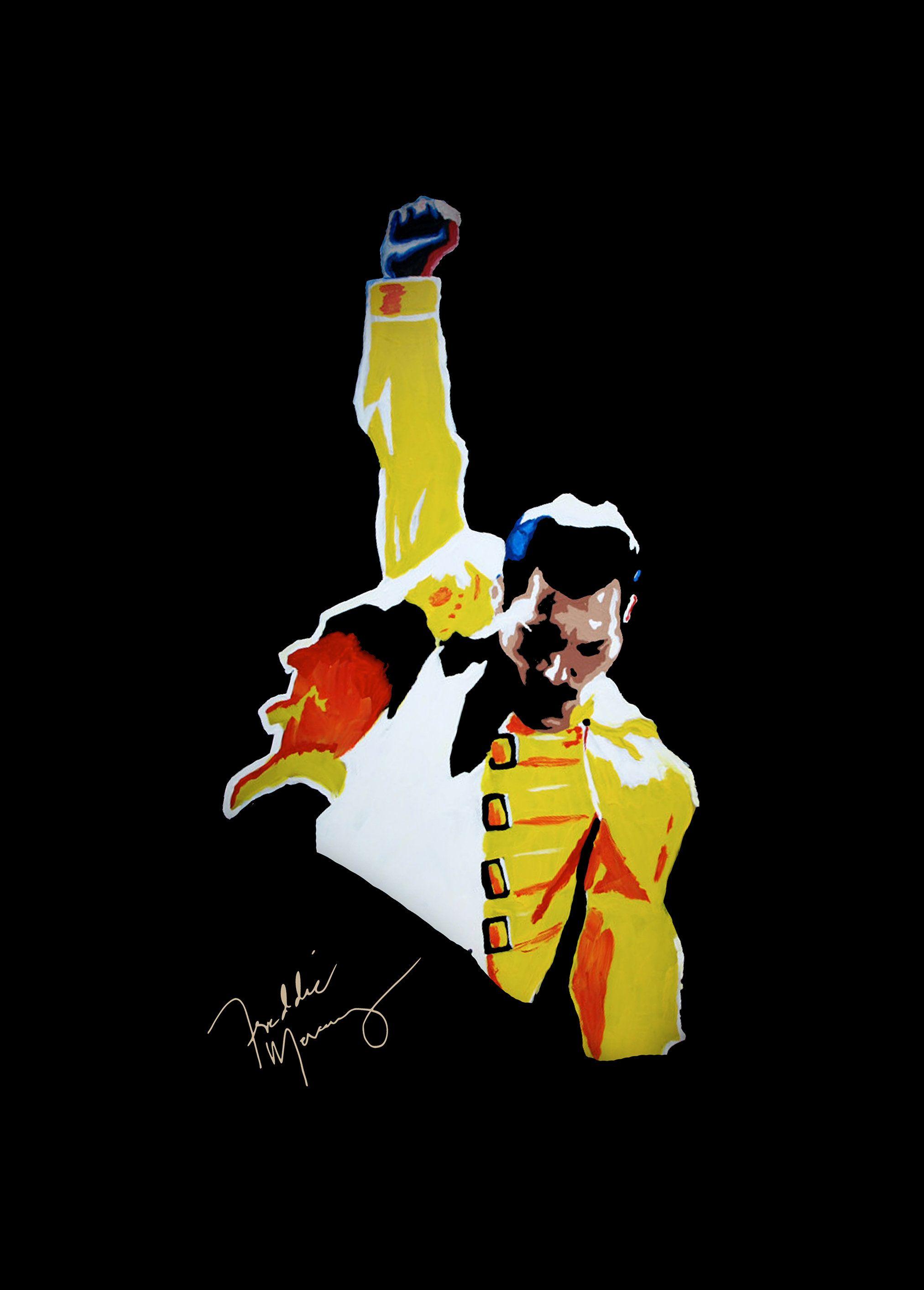 Artwork Poster Freddie Mercury Queen Affiche Handmade Graffiti Street Art