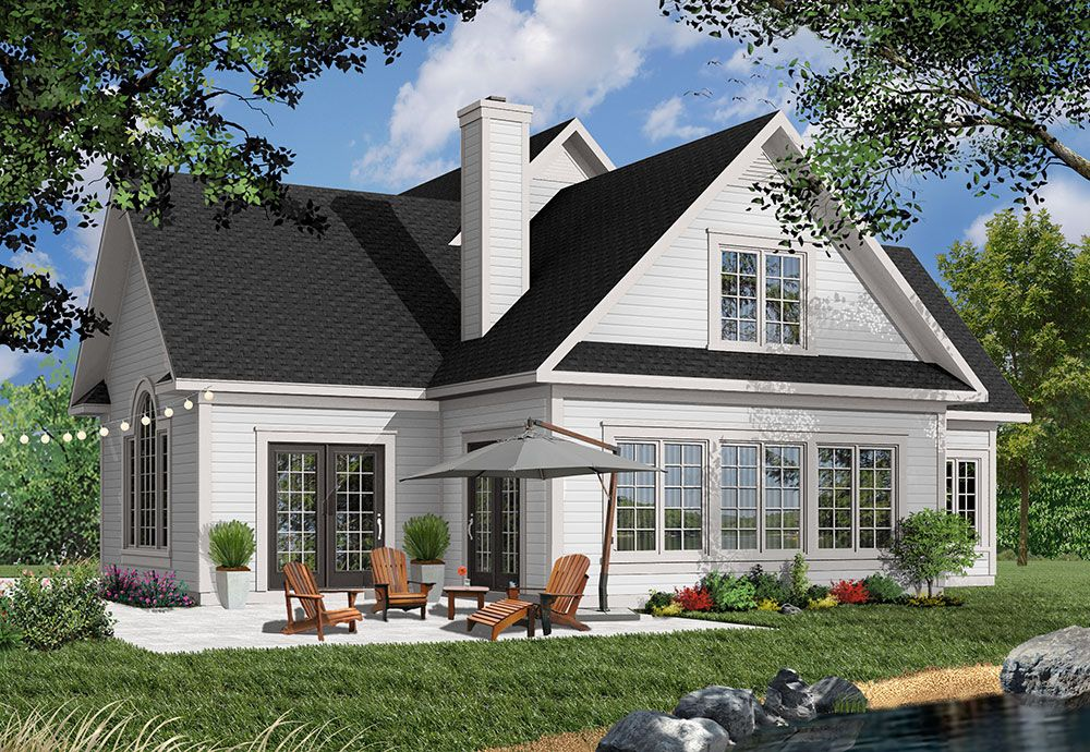 Country House Plan With Bonus Room Lake House Plans Cottage Plan House Plans