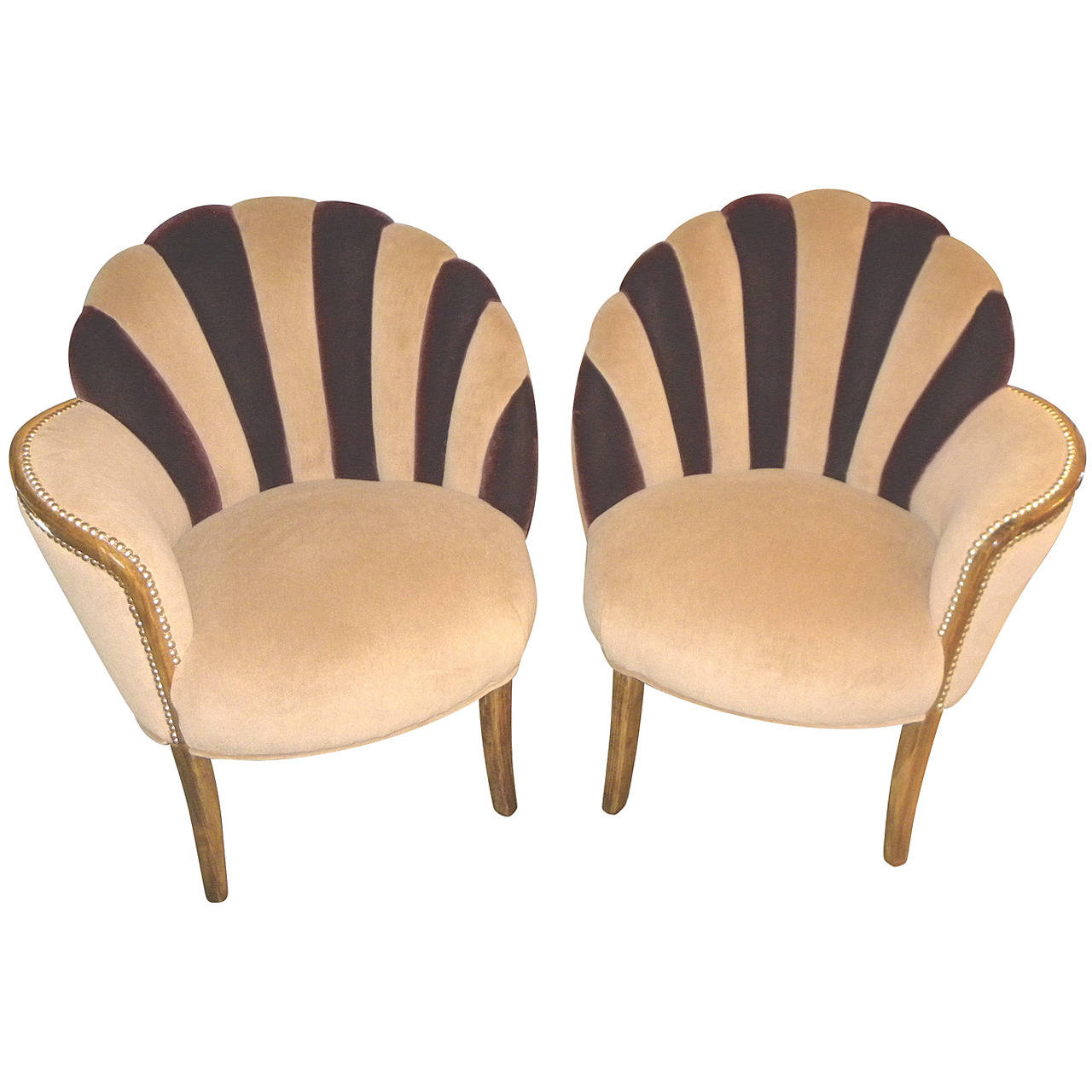 High Style Art Deco Fan Backed Side Chairs Decor