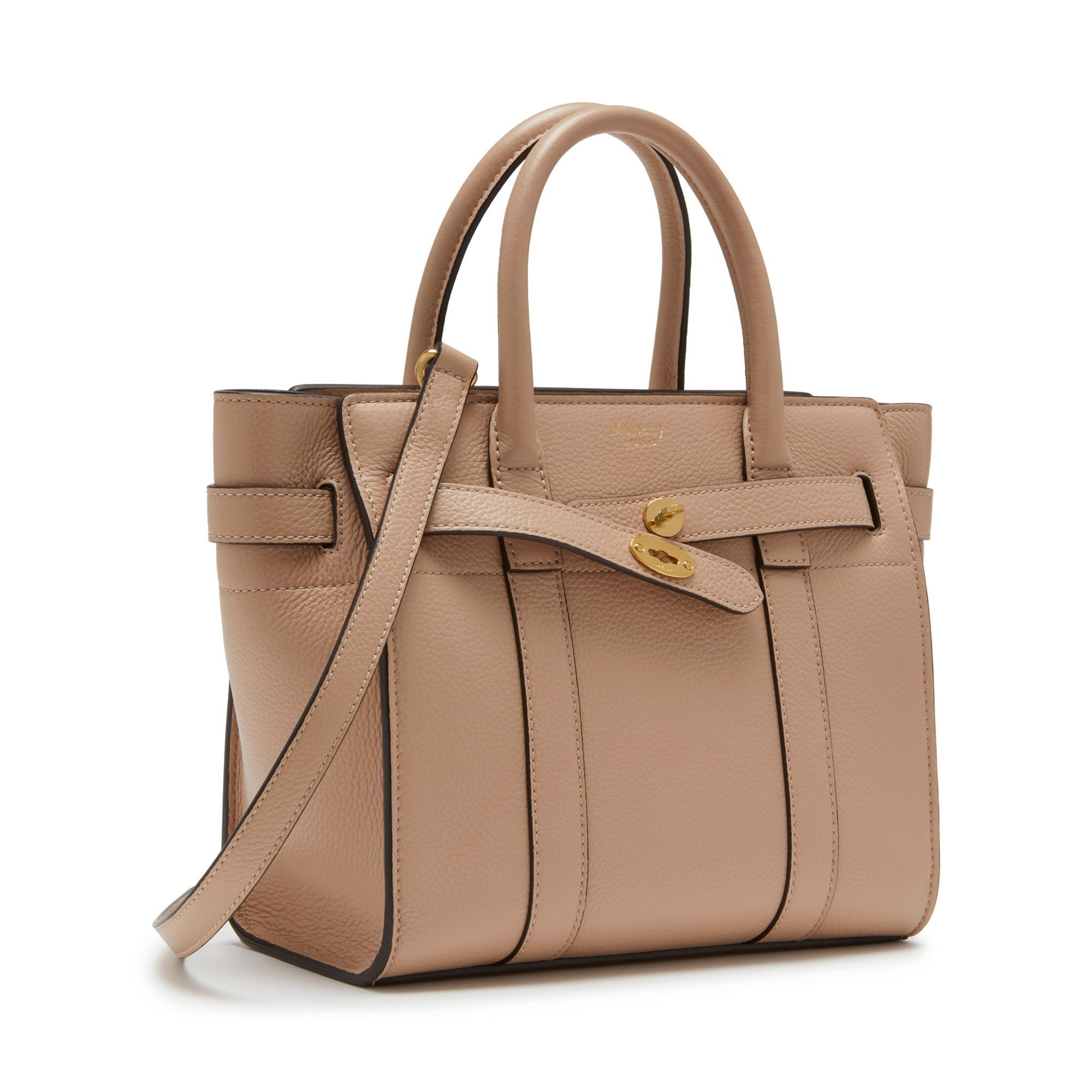 ba389dd42969 Shop the Rosewater Leather Mini Zipped Bayswater on Mulberry.com. A new  arrival for