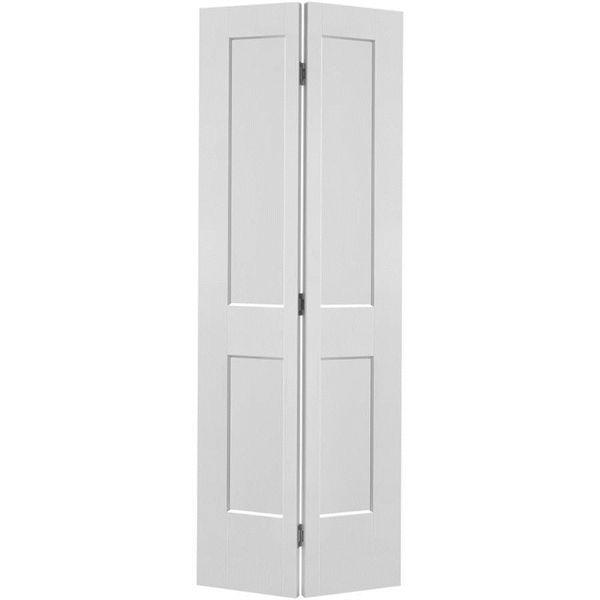 30 In X 80 In Logan 2 Panel Bifold Closet Door Bifold Door Hardware Bifold Doors
