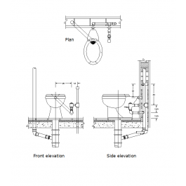 Toilet pipe connections | Toilet | Toilet, Cad blocks, Pipes