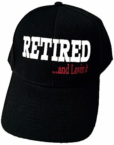 457b3c1b77c Retired BLACK Baseball Cap Fathers Dad Grandfather Moms Mother Friend Boss  Manager Supervisor Team Leader Foreman