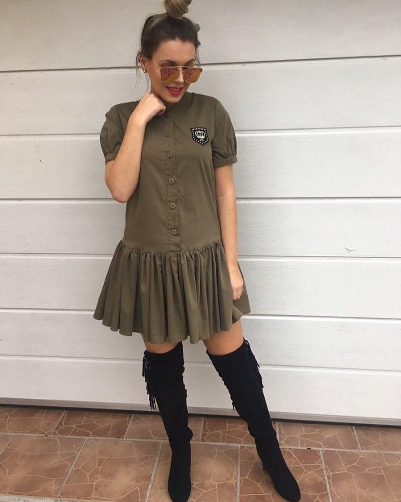 Army style šaty ktoré stoja zato veľ.36/S sadnú aj na S-M a menšie L ( voľný strih ) v cene 3990 v prípade zaujmu nám napíš do directu na FBalebo urob objednávku na http://www.tvojstyl.fashion