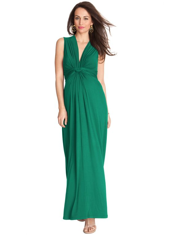 Queen Bee Emerald Green Evening Maternity Maxi Dress by Seraphine ...