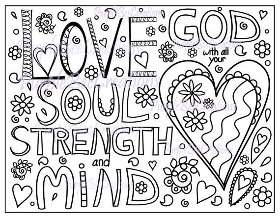 Coloring Page Bible Verse Coloring Page Love By Purplebeecreations