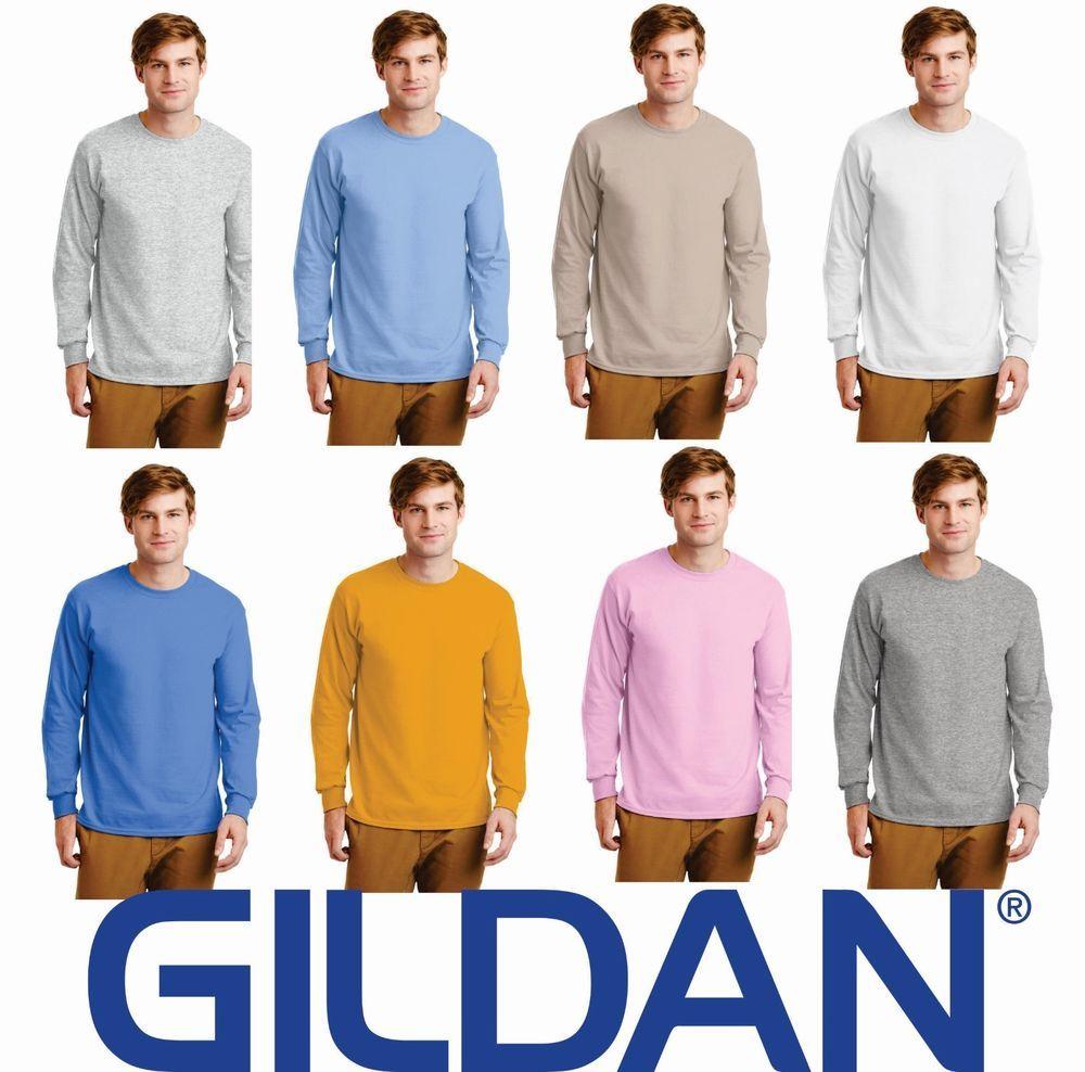 Gildan Ultra Cotton L//Sleeve Tee T-Shirt Homme