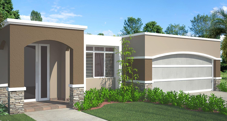 Lo moderno y la elegancia se enlazan en este modelo esta - Casas con chimeneas modernas ...