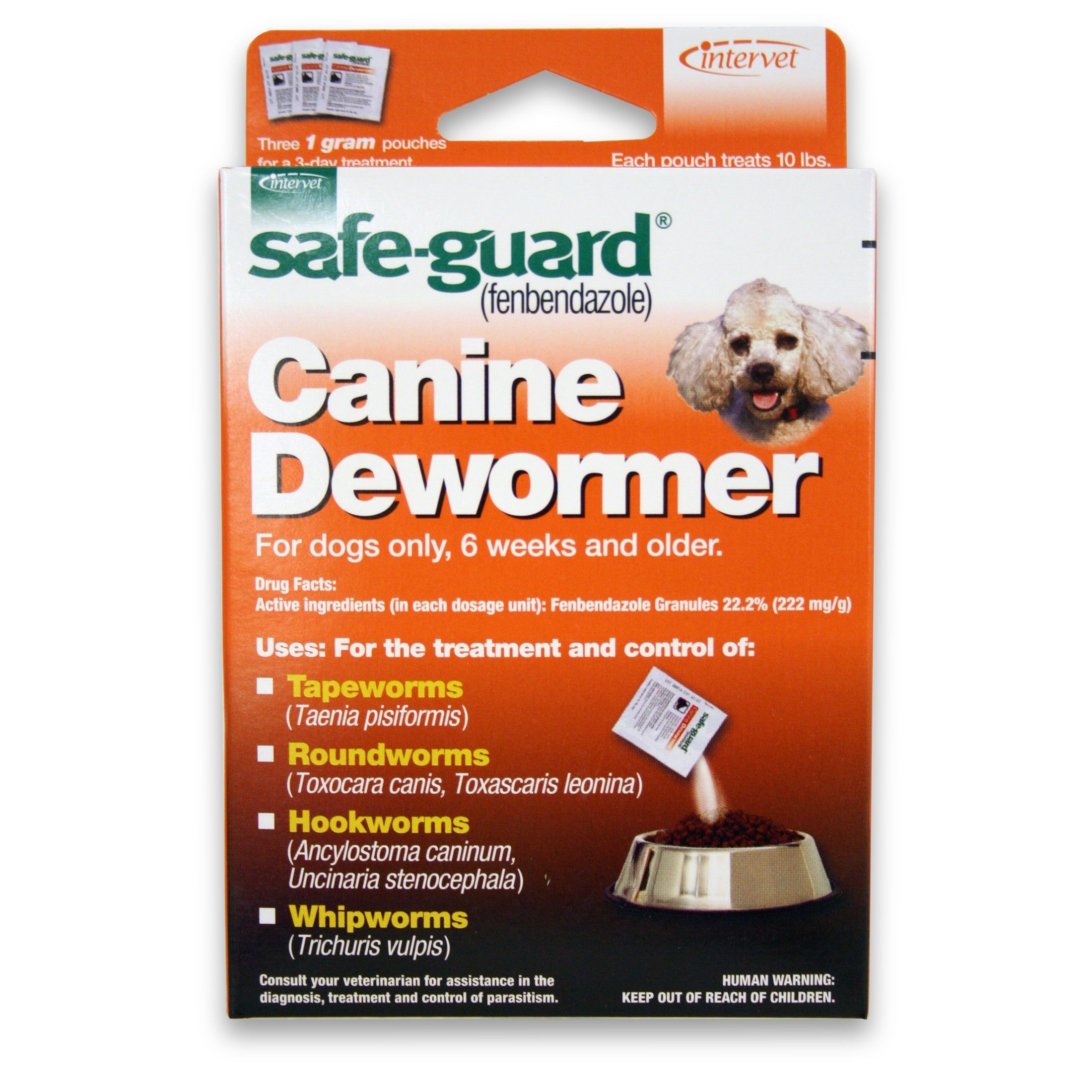 SafeGuard Canine Dewormer (6 Packets (4 Grams Each
