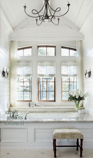Clean, crisp, white rooms - each with their own unique elements to create a distinct look  www.windowfashionsoftexas.com