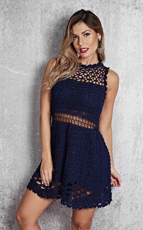Schönes Kleid häkeln #crochetdress