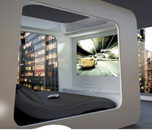 circular bed private cloud modern bedroom furniture | dream home ...