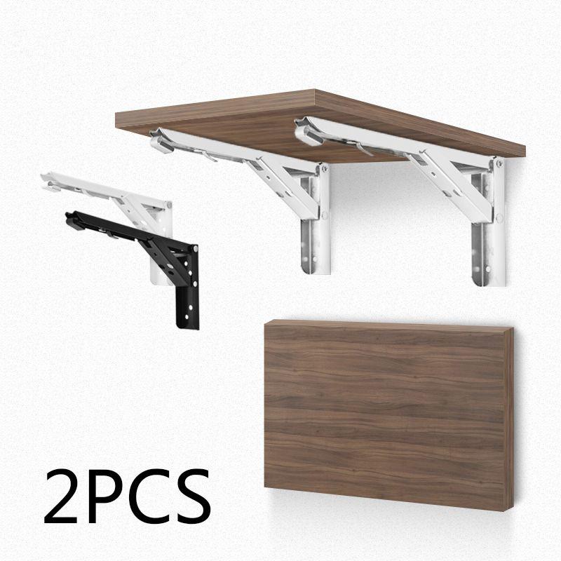 2x Multipurpose Folding Shelf Bench Table Bracket Mount Steel Hardware Tool Kit Brackets