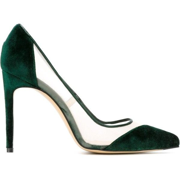 Bionda Castana Bay Pumps (€205) ❤ liked on Polyvore featuring shoes, pumps, green, green shoes, bionda castana, bionda castana pump, calfskin shoes and bionda castana shoes