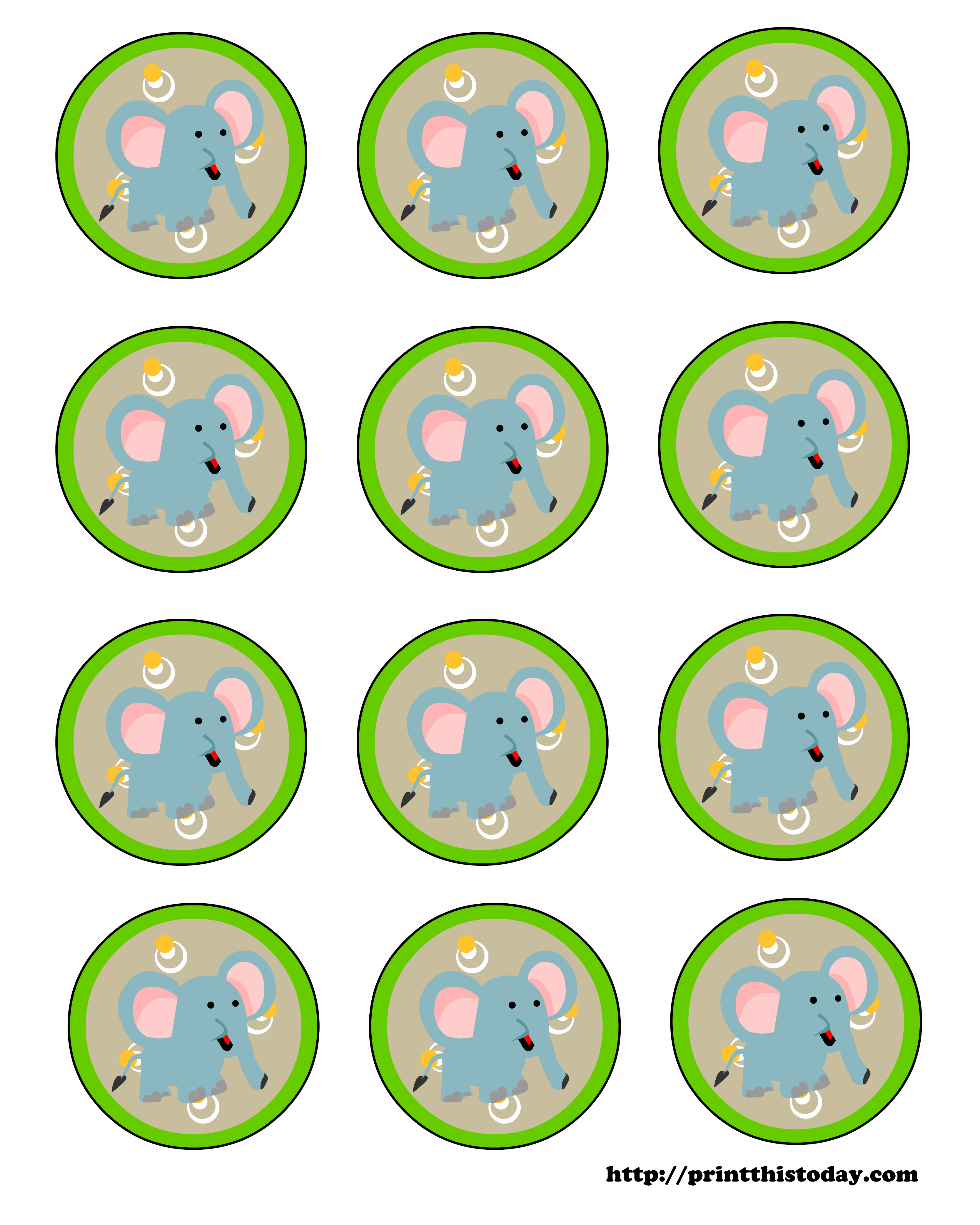 Baby Elephant Labels