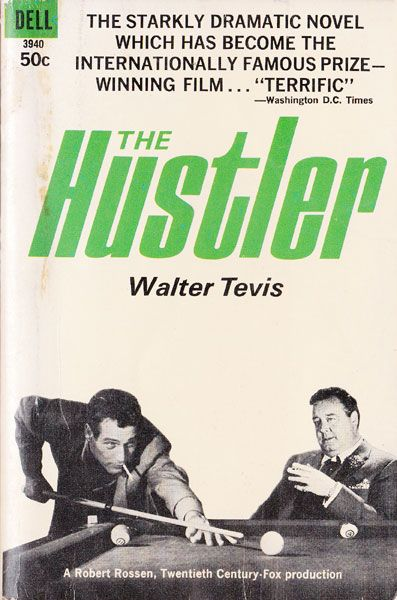 The Hustler by Walter Tevis, book cover