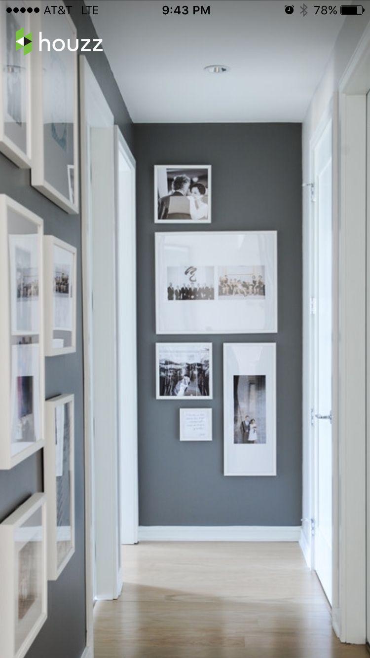 Family Pics Gallery Wall Hallway Designs Modern Hallway