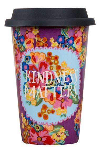 Natural Life Kindness Matters Ceramic Thermal Mug Nordstrom In 2020 Mugs Thermal Mug Cool Mugs