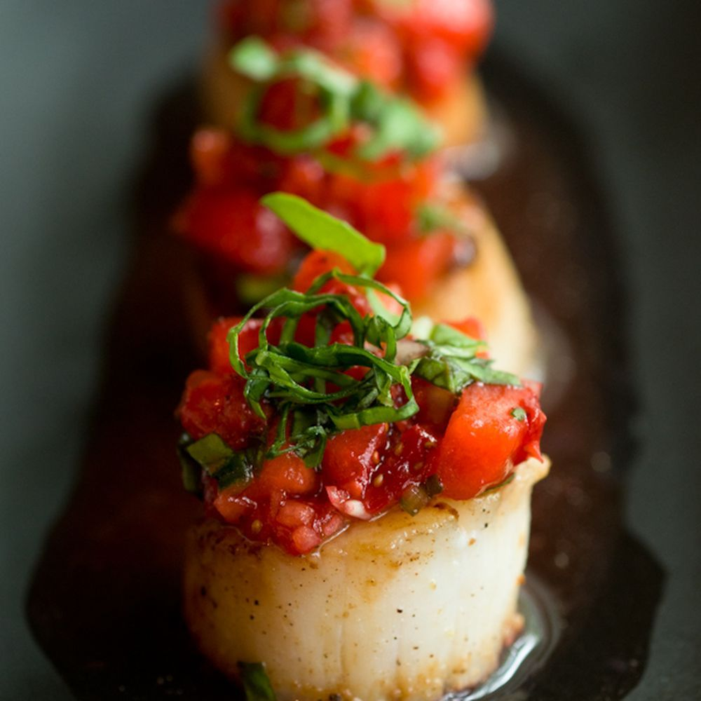 Caramelized Scallops With Strawberry Salsa Recipe On Food52 Recipe Strawberry Salsa Recipe Caramelized Scallops Scallop Recipes