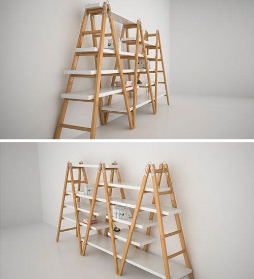tag re chelles bois planches id es pinterest echelle bois etagere echelle et chelles. Black Bedroom Furniture Sets. Home Design Ideas