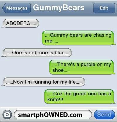 Abcd gummy bears lol funny text