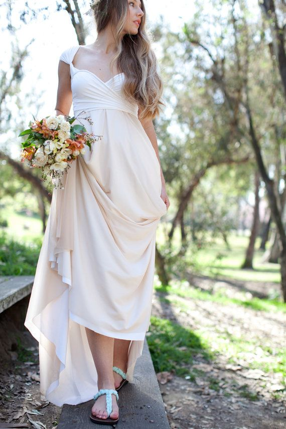 Wedding Photography Under 500: Chiffon Octopus Infinity Convertible Wrap Gown By