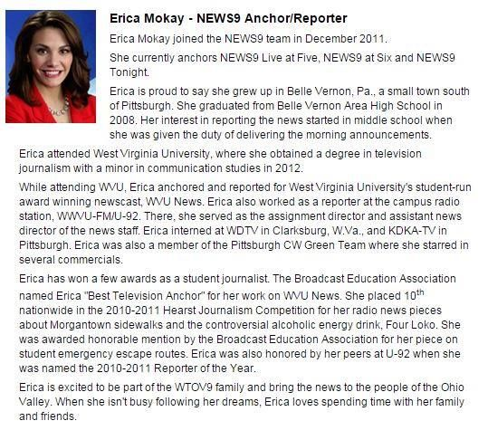 Look who's following us on Twitter - Erica Mokay, anchor for