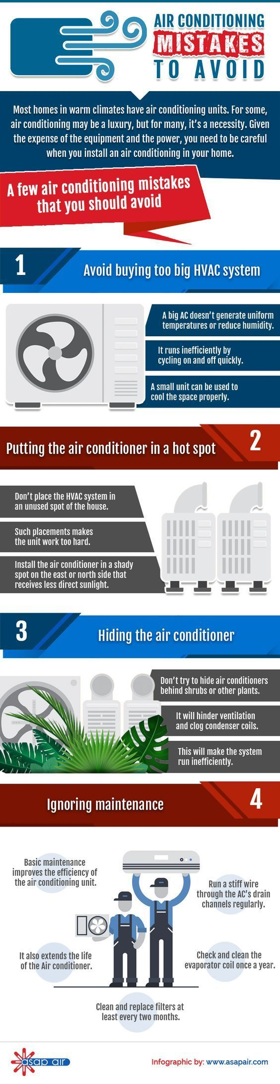 Air Conditioning Mistakes To Avoid (infographic)