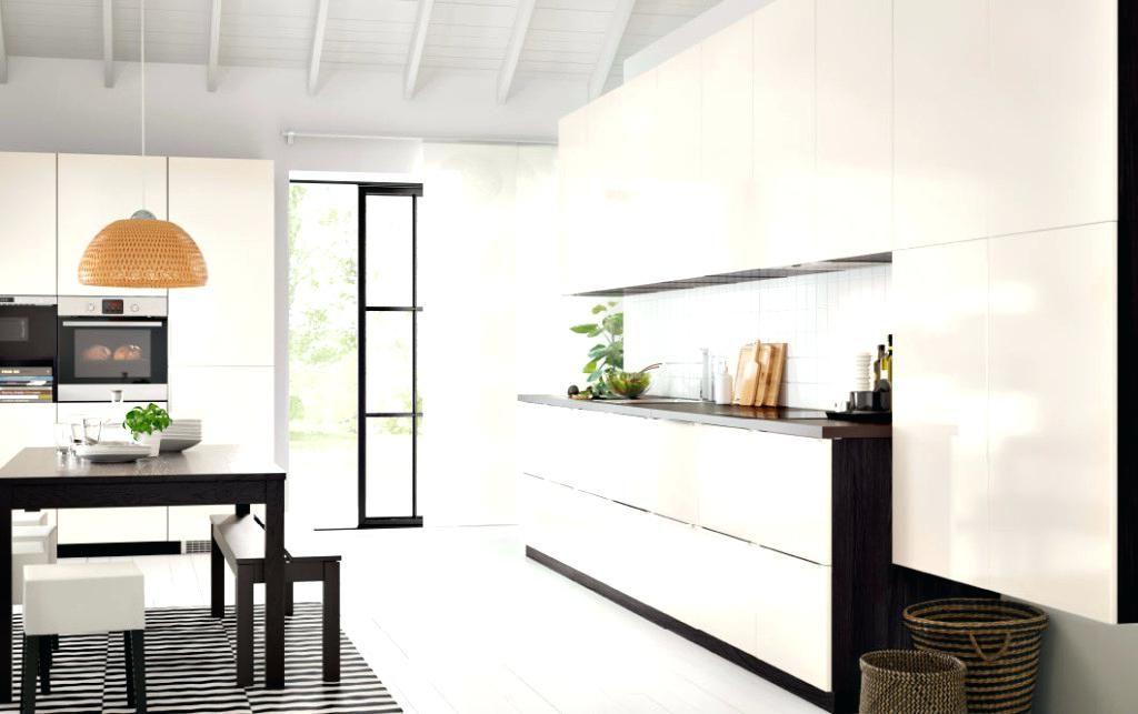 Resultat De Recherche D Images Pour Cuisine Voxtorp Blanc Brillant Cuisine Contemporaine Ikea Ringhult Cuisine Loft