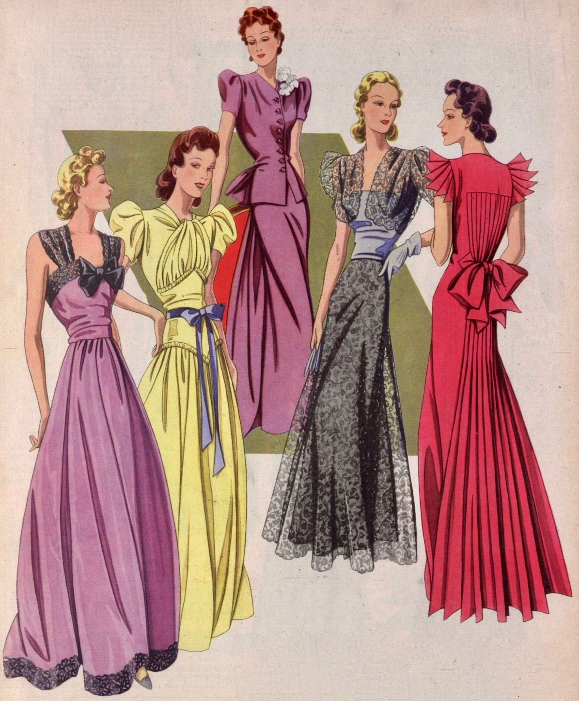 Pin By 1930s 1940s Women S Fashion On 1940s Evening Wear Fashion 1940s Fashion Evening Gowns [ 1446 x 1195 Pixel ]