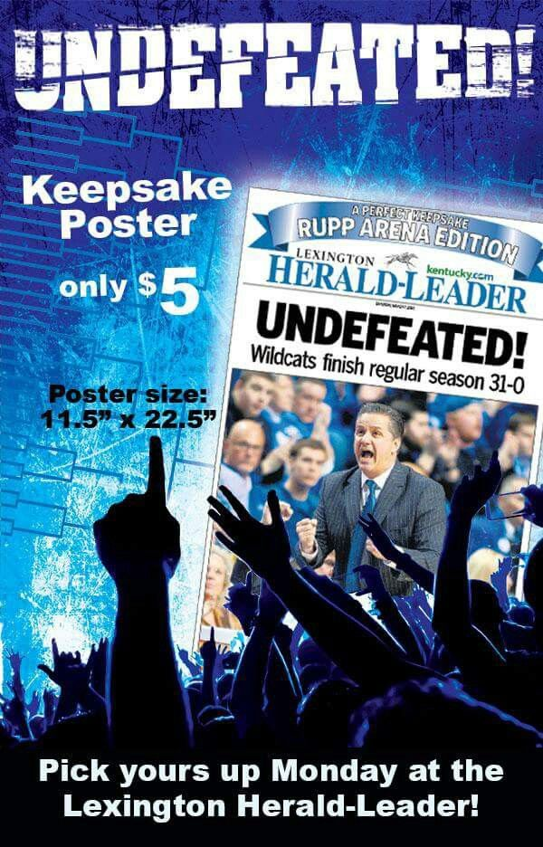 Keepsake poster. (With images) Big blue nation, Kentucky