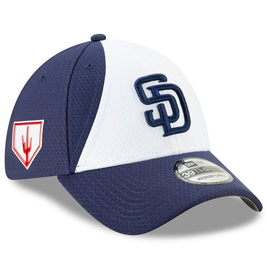 best loved 8a55c 93d51 Men s San Diego Padres New Era White 2019 Spring Training 39THIRTY Fitted  Hat,  37.99