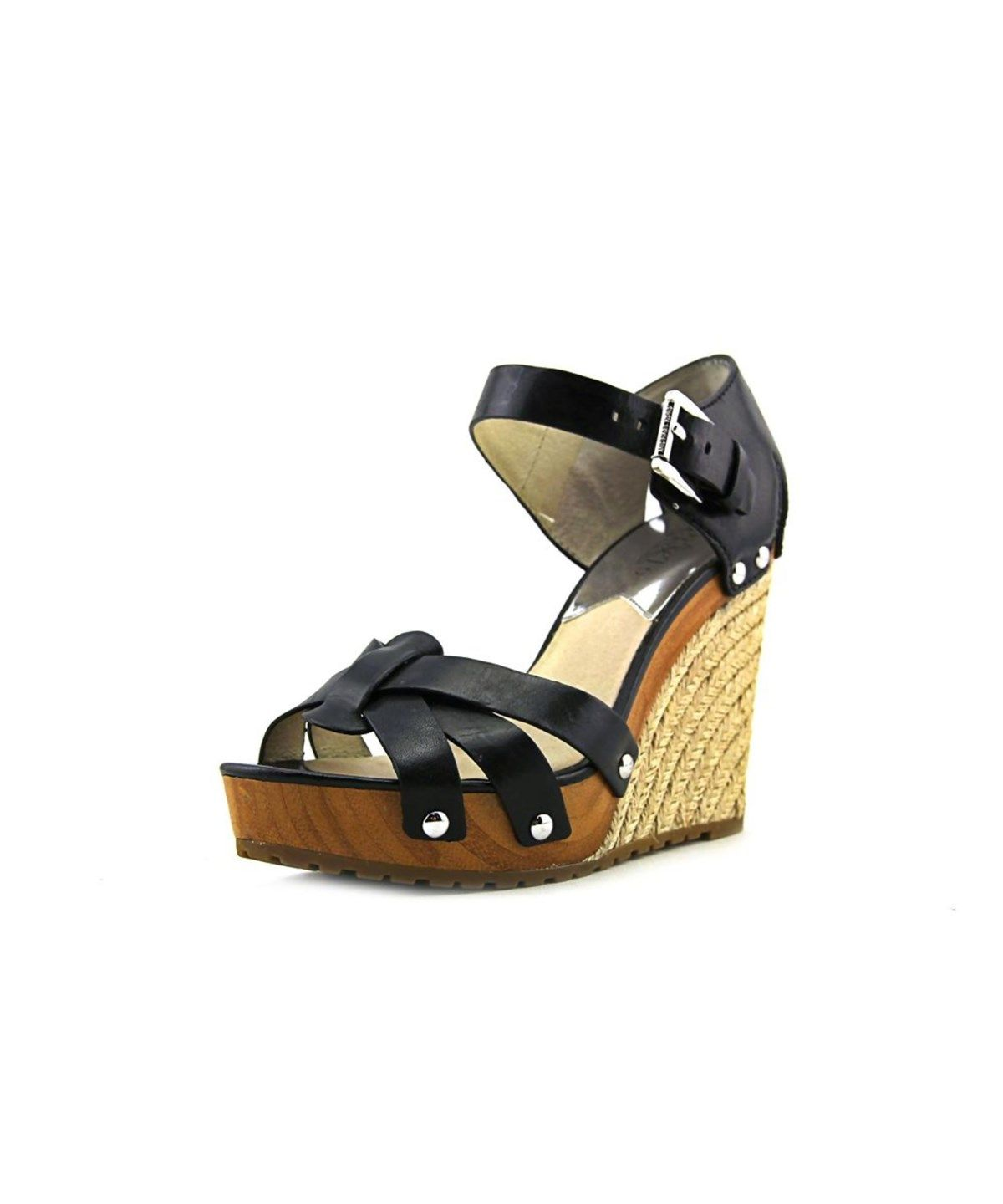 7227ee2192d MICHAEL MICHAEL KORS Michael Michael Kors Somerly Wedge Women Open Toe  Leather Wedge Sandal .  michaelmichaelkors  shoes  pumps   high heels