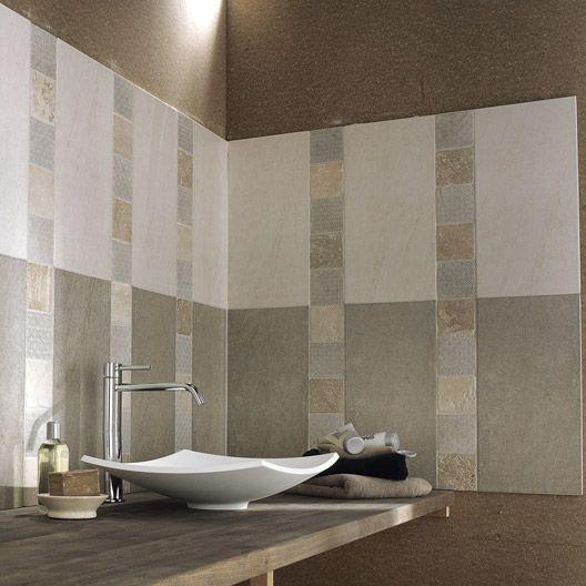 Carrelage mural Borgognia en faïence, beige, 25 x 50 cm sdb