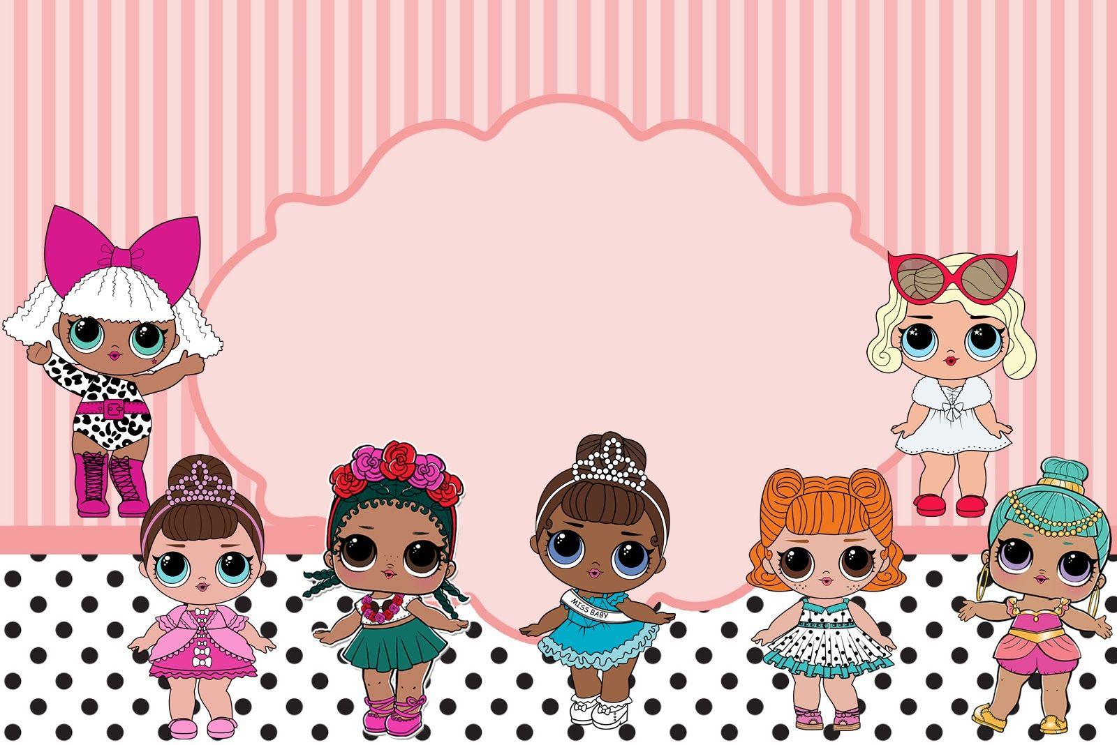 Для поздравлений, открытка с днем рождения для девочки 5 лет с лол