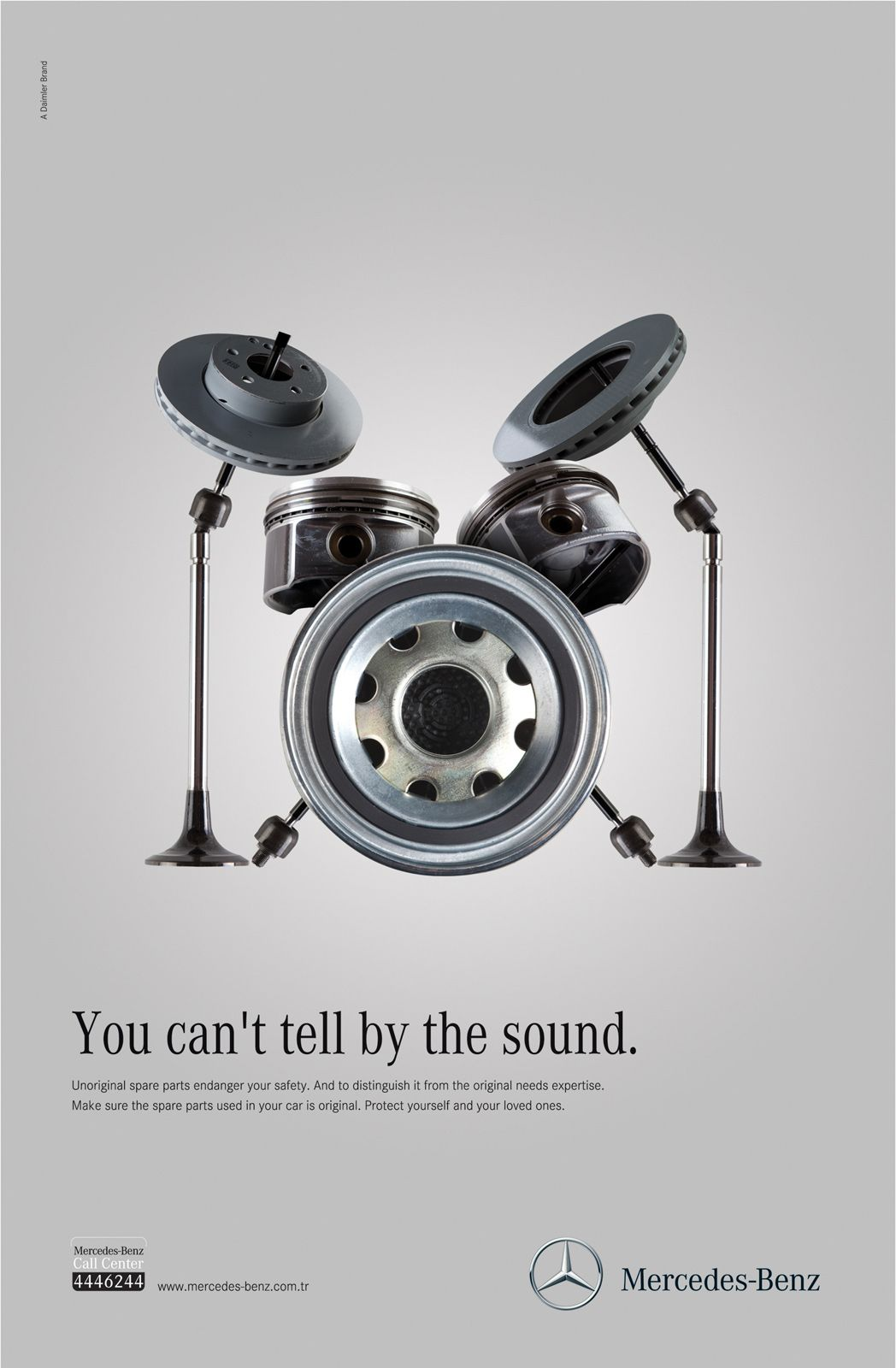 Imperceptible unoriginal part ads mercedes benz benz for Auto parts for mercedes benz