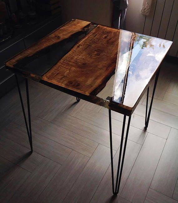 couchtisch speise mit birnbaum und hochwertige epoxidharz resin pinterest bois table. Black Bedroom Furniture Sets. Home Design Ideas