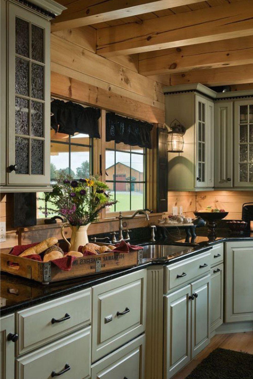Creative Kitchen Design Ideas And Layout Log Cabin Kitchens Log