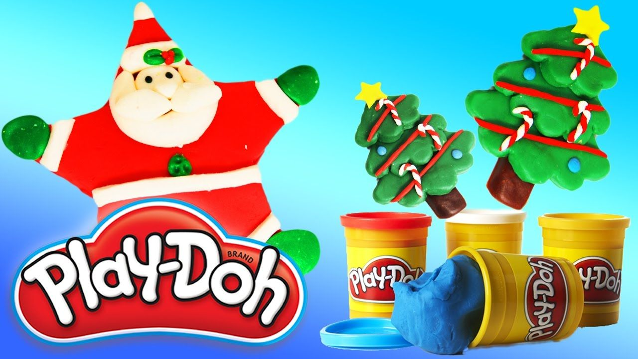 Learn Colors with Play Doh Santa Claus & Christmas tree ...