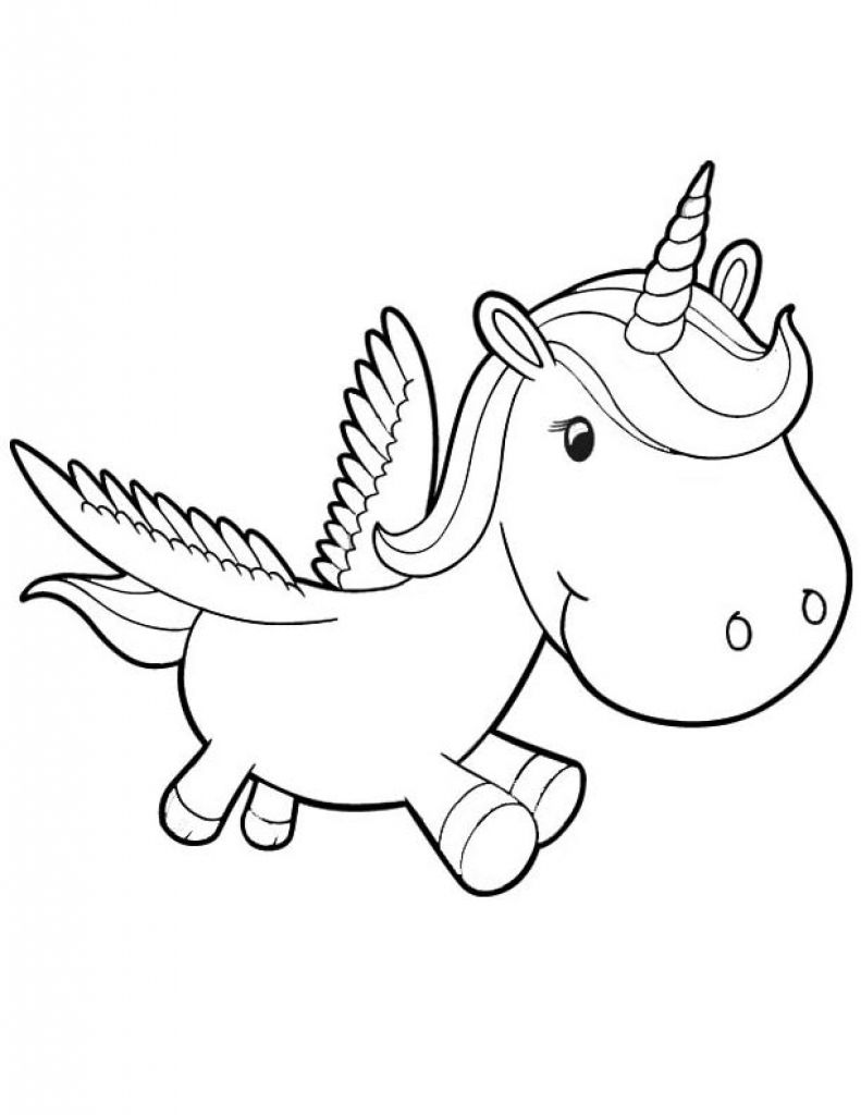 beautiful unicorn coloring pages - photo#14