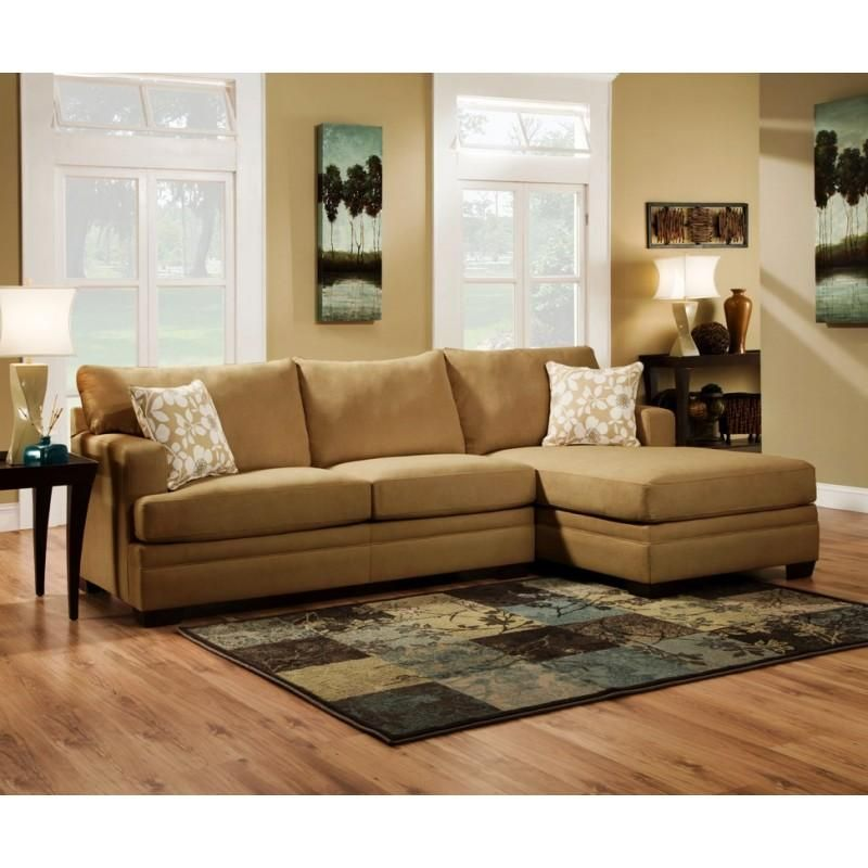 Modern Light Brown Sectional Sofa by Simmons United - Brown Couch Living Room