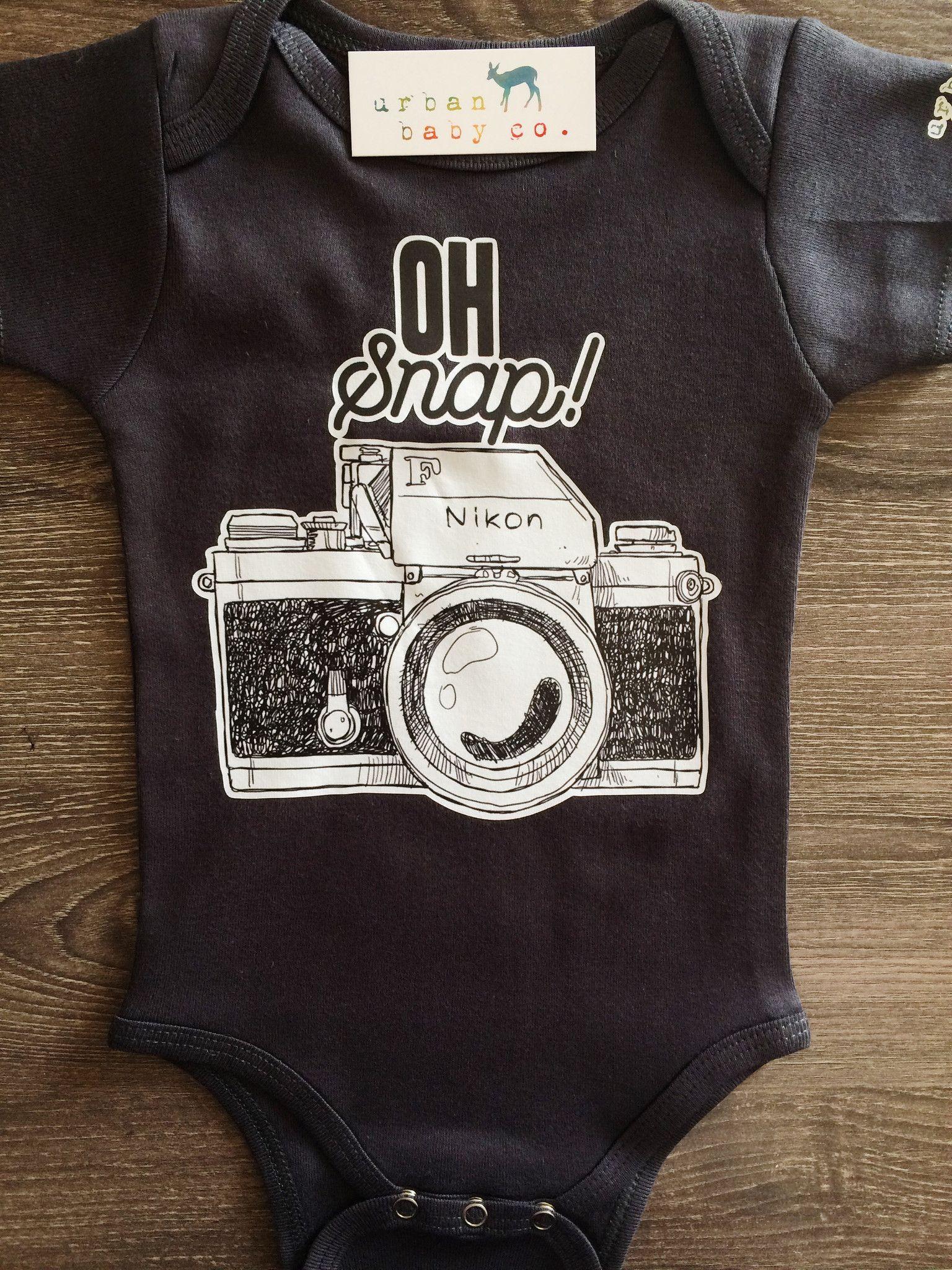 81b02cdd6 ... Nikon Camera, Photographer, Photography Baby, Boy, Girl, Unisex, Gender  Neutral, Infant, Toddler, Newborn, Organic, Bodysuit, Outfit, One Piece,  Onesie® ...